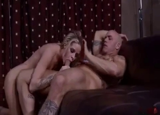 Blonde beauty rides on her brother's dick with love