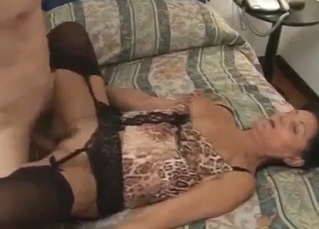 Slutty mother enjoys nasty incest with her son