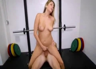Banging my sporty sister right in the local gym