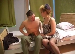 Son and mom have an awesome oral sex in the bed