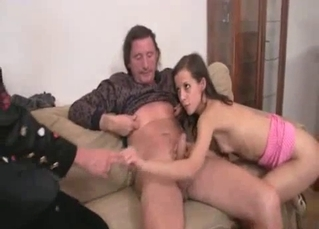 Angelic young daughter and daddy's fat boner